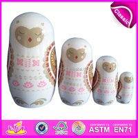 2015 New Products Matryoshka Dolls for kids,high quality Matryoshka for children,Hand made Russian Matryoshka Dolls W06D035