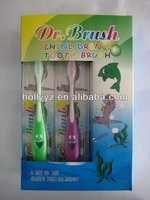 2013 best selling top quality cheap soft lovely kids stand up toothbrush