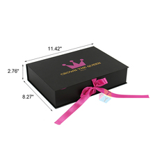 custom book best silk lined hair bundle packaging box