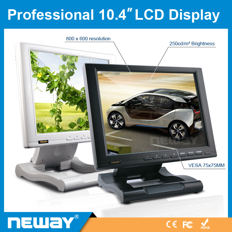 Industry Full HD 4-Wire Resistive Monitor 10.4 Inch Touchscreen LCD With VGA