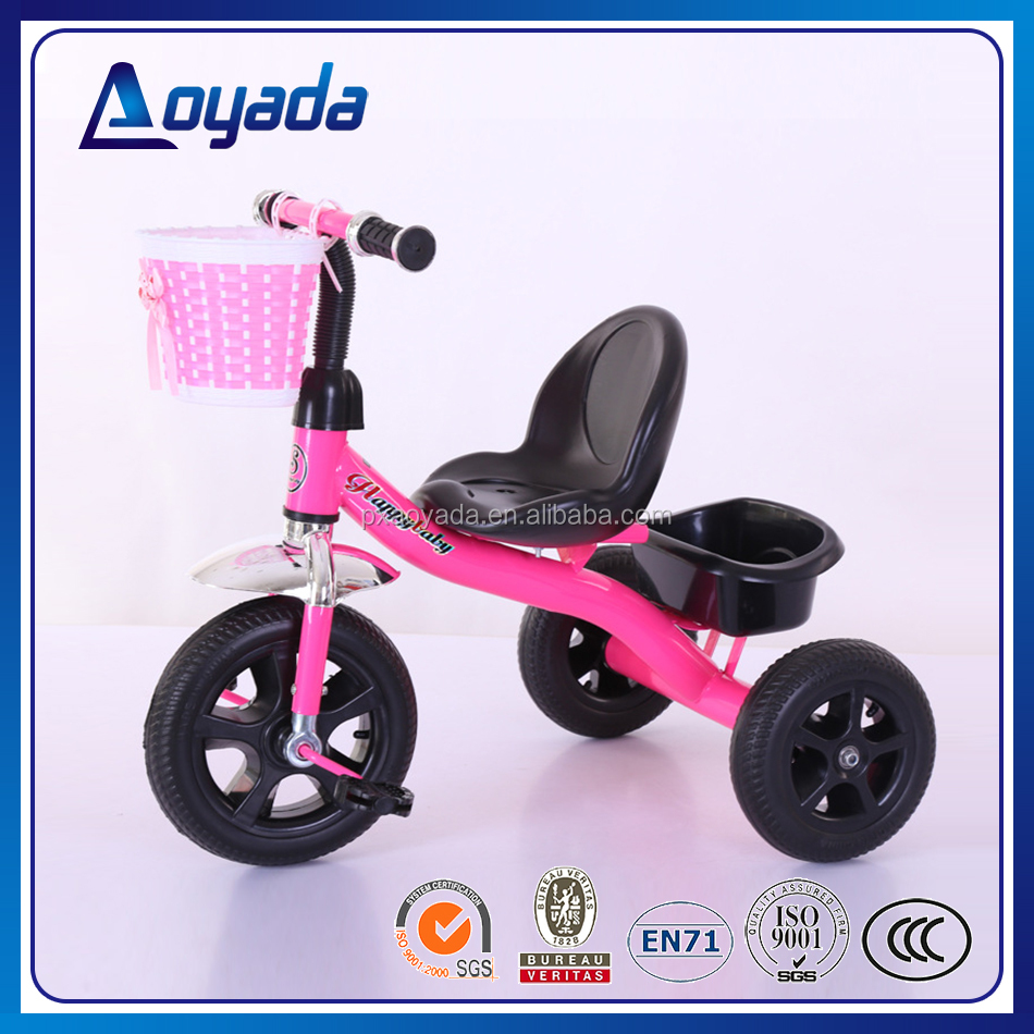Popular mini kids trike / high quality durable kids tricycle / child tricycle with basket from china factory
