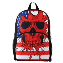 New Arrival Lightweight 600D/PU Skull kids school bag