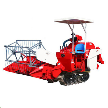 2018 new mini crawler combine harvester 4LZ-1.0 for paddy, wheat