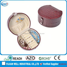 Dark Red PU Leather Description Of Jewelry Box/ Rings /Earrings Case