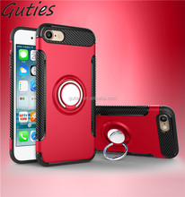 3 in 1 cell phone case For iphone 7 plus Armor case with 360 rotating Ring holder