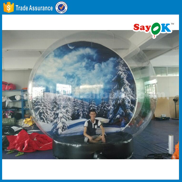 led christmas light air blown 8ft inflatable snow globe