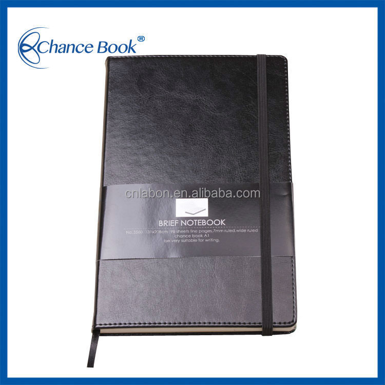 Chinese Character Logo Leather PU Cover Notebook