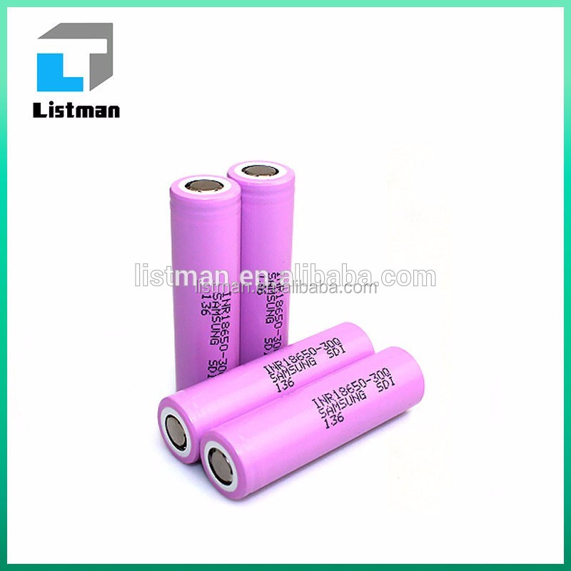 electronic cigarettes box mod new prod Samsung INR18650-30Q 3000mAh 3.7V 15A discharge rechargable li ion battery 18650 30Q cell
