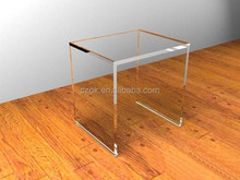 Clear small luxury crystal acrylic side table wholesale