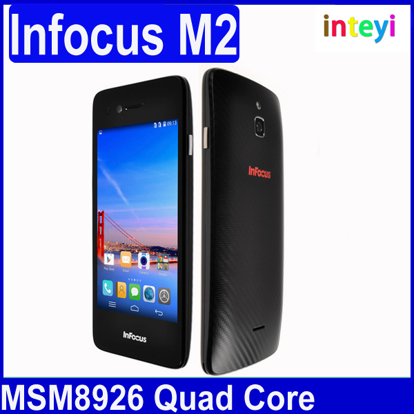 "Foxconn Infocus M2 4G FDD LTE 4.2"" IPS screen 1280X768 Android 4.4 MSM8926 Quad Core 1GB/8GB 8MP+8MP 4G Mobile Phone BT WIFI/Eva"