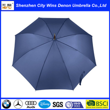 high quality custom printed advertising umbrella wooden curve handle straight umbrella