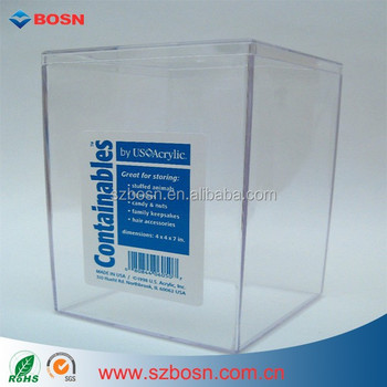 Clear Plastic Acrylic Display Case Betta Fish Aquarium Container