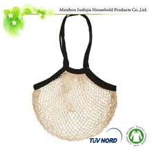 Eco natural type 100% cotton / polyester material shopping string bag