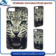 heat press printing DIY 3D sublimation cell phone case for iphone5