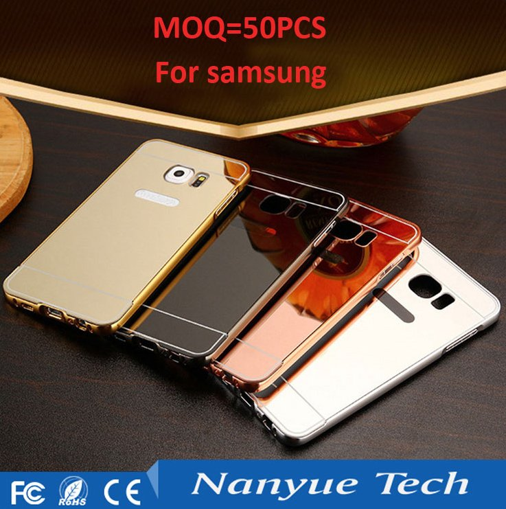 2016 hot selling MOQ=50pcs luxury aluminum bumper mirror case for samsung galaxy S6/S6 edge/S7/S7 edge