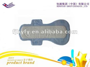 Sanitary napkin with PE cover