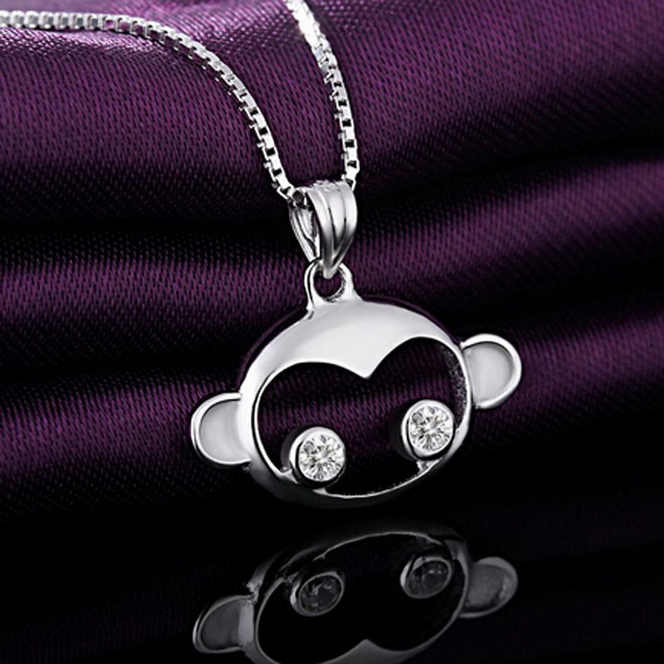 Good Price Best Selling China Factory Sterling 925 Silver Animal Monkey Necklace