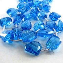 Swiss Blue Topaz Step Cut Nuggets Beads Strand, Natural Gemstone Beads Strands, Semi Precious & Precious Stone Loose Beads