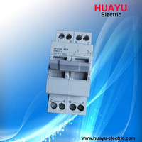 SF Din-rail mounting Modular changeover switch for dual power supply