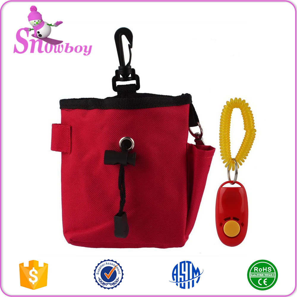 Dog Pet Treat Pouch Bag With Clicker