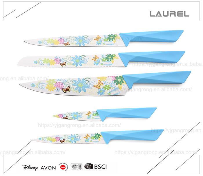Promotional fine price high quality wholesale kitchen knife set