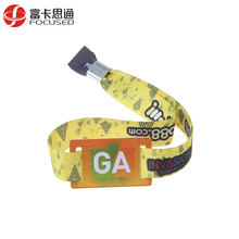 Plastic Fastener Environmental Friendly For Sports High Secure Custom Disposable Ticket Woven Fabric NFC Event RFID Bracelet