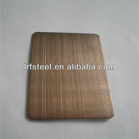 bronze 304 hairline finish stainless steel sheet