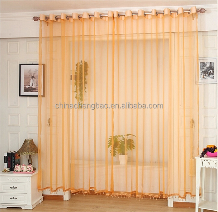 Ultra-thin breathable transparent modern lace sheer voile curtain