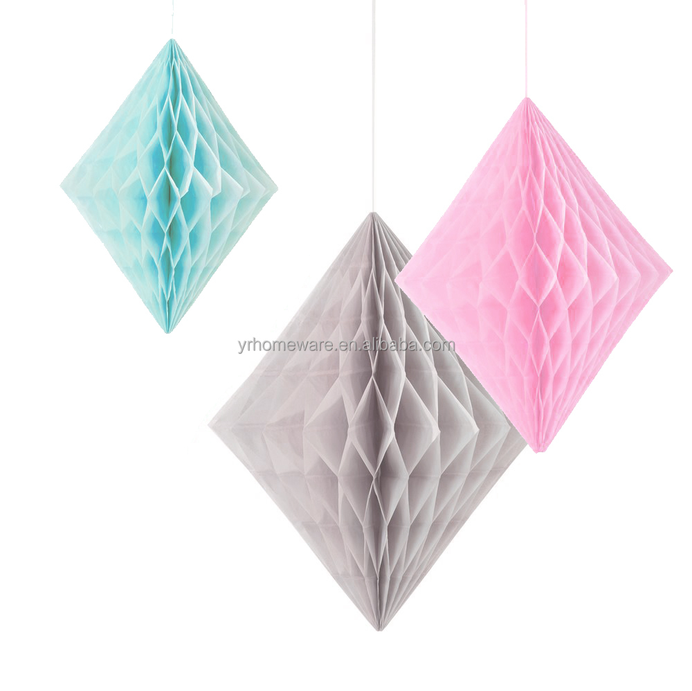 Diamond paper honeycomb ball, wedding decorations, tissue party decorations