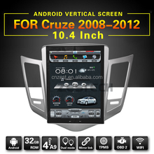 Android 6.0 super big vertical touch screen car dvd player for chevrolet cruze with WiFi/BT/Radio/gps/rds/swc(ZT-VG1004)