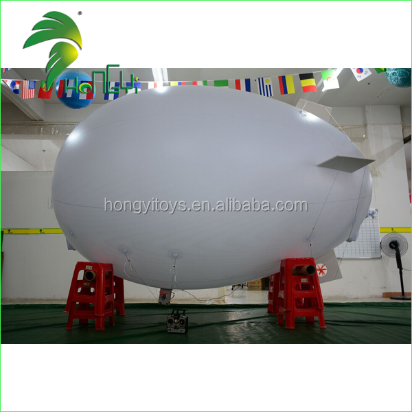 Outdoor Advertising Inflatable Remote Control Blimp / Inflatable RC Zeppelin Model / RC Airship 3M Blimp