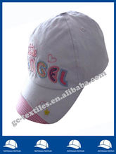 children's cap with checked fabric on