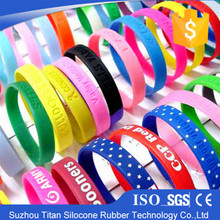 Eco Friendly Sports use embossed wristbands