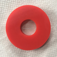 Colored silicone rubber washer