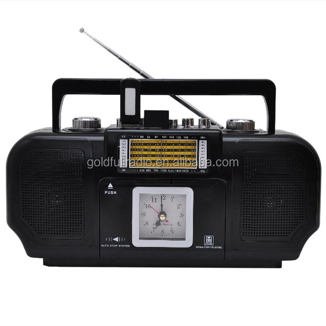 High Quality Portable Dongguan AM/FM/SW Torch Light Rechargeable Radio Cassette Recorder