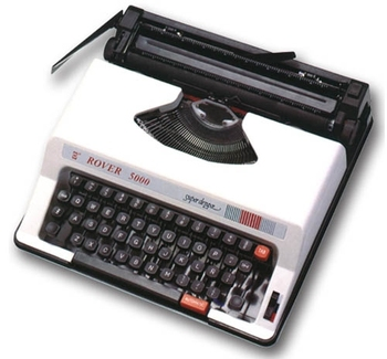 "2012 new model 9.5"" English typewriter"