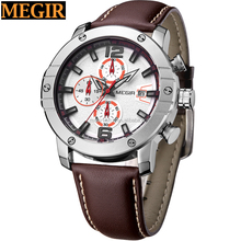 fashion style men top brand watches megir marca de relojes