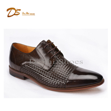 Latest men casual waxed buffalo leather dress shoes