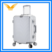 Custom cool wholesale Fashion design hard shell trolley PC suitcase