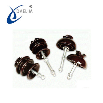 High voltage cap and pin type porcelain insulator