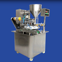 Rotary vegetable oil cup filling sealing machine with date printer