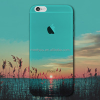 Creative customized phone cases Cover For iPhone 6 Plus 5.5'' Soft Silicon Transparent View of Sunset case for Phone