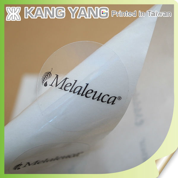custom cosmetic packaging clear pvc sticker