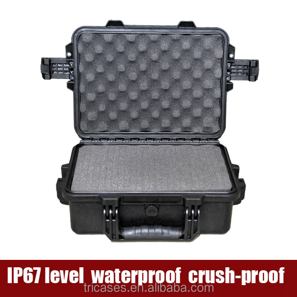 Made in China factory Tricases injection molded ip67 watertight medium size hard plastic carrying tool case
