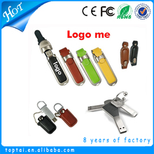 China factory Leather Housing Metal USB flash drives 2gb 4gb 8gb 16gb USB pendrive USB flash memory stick wholesale