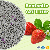 Pet clean up products strong clumping bentonite cat toilet sand