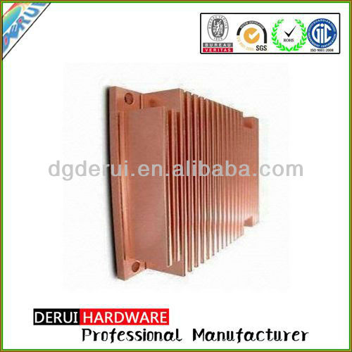 Extrusion and welding copper heatsink OEM/ODM factory guandong