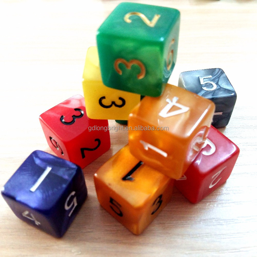 Educational Figure Dice Number Dice Plastic 6 Sides Dices