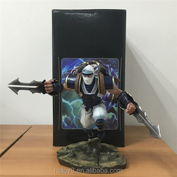 LOL League Of Legends The Master of Shadows Zed Action Figure LOL Zed Doll PVC action figure Anime Toy 20 cm