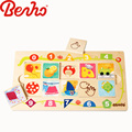Shape Sorter Board Wooden Jigsaw Blocks Baby Toys